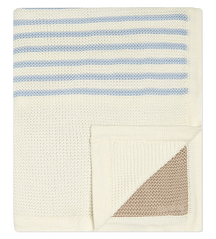 NATURES PUREST Knitted cotton blanket (White