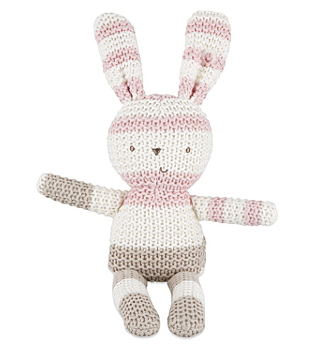 NATURES PUREST Bella knitted bunny (White