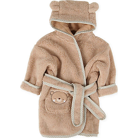 NATURES PUREST Teddy & Ele bathrobe 0-6 months (Brown