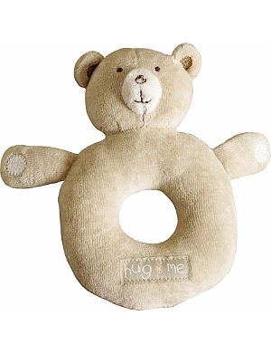 NATURES PUREST Hug Me Bear round rattle