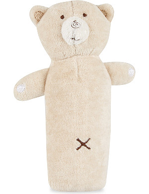 NATURES PUREST Hug Me Bear squeaky rattle