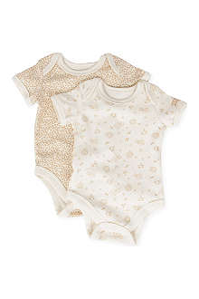 NATURES PUREST Little Leaves set of two bodysuits 0-6 months