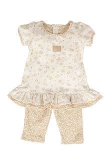NATURES PUREST Little Leaves dress and leggings 0-6 months