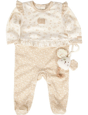 NATURES PUREST Little Leaves babygrow and toy 0-6 months