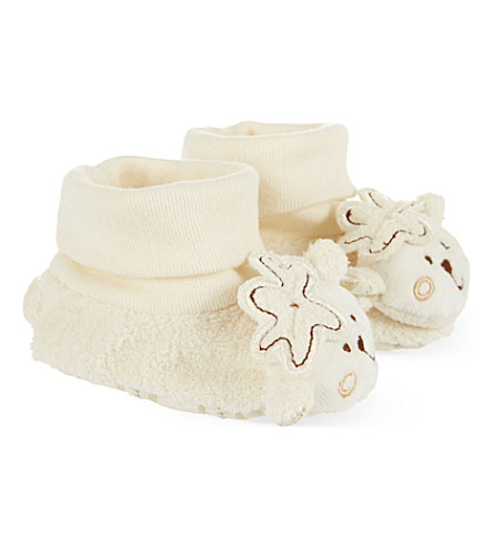 NATURES PUREST Sleepy Sheepy bootees 0-6 months (Cream
