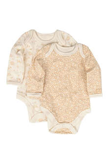 NATURES PUREST Little Leaves two-pack bodysuit set 0-3 months