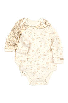 NATURES PUREST Little Leaves set of two bodysuits 3-6 months