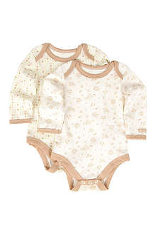 NATURES PUREST Tiny Squares set of two bodysuits 0-6 months