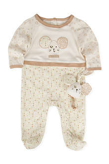NATURES PUREST Tiny Squares baby-grow and toy 3-6 months