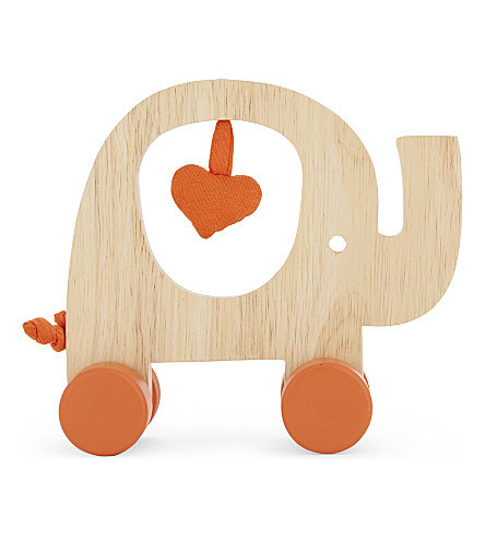 NATURES PUREST My First Friend wooden elephant push-along toy (Natural