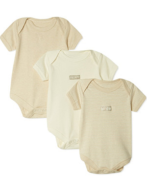 NATURES PUREST Set of 3 bodysuits 0-3 months