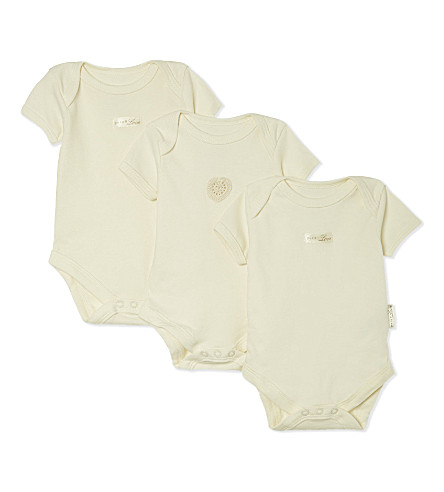 NATURES PUREST Pure Love bodysuits set 0-3 months (White