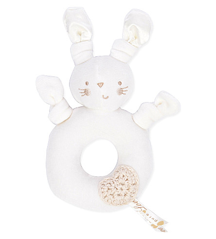 NATURES PUREST Pure Love bunny rattle (Cream