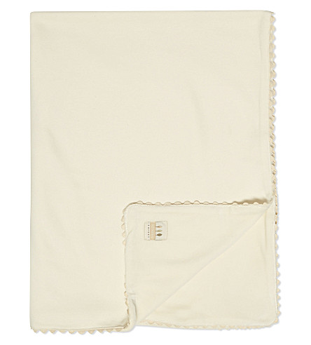 NATURES PUREST Velour blanket (White