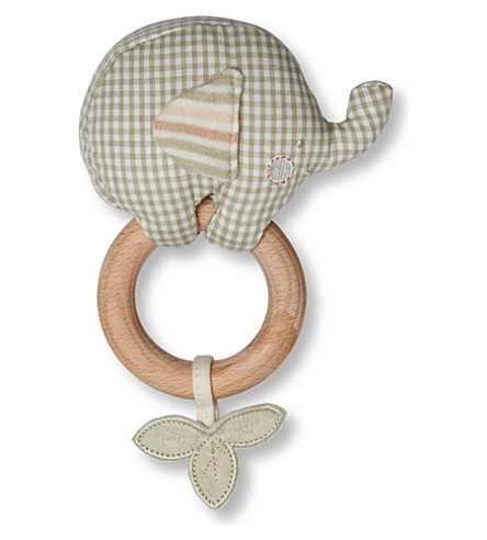 NATURES PUREST Ele teething rattle (Green