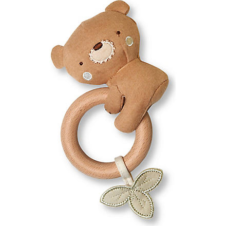 NATURES PUREST Teddy teething rattle (Brown