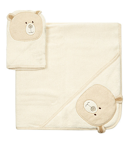 NATURES PUREST Robe and mitt set