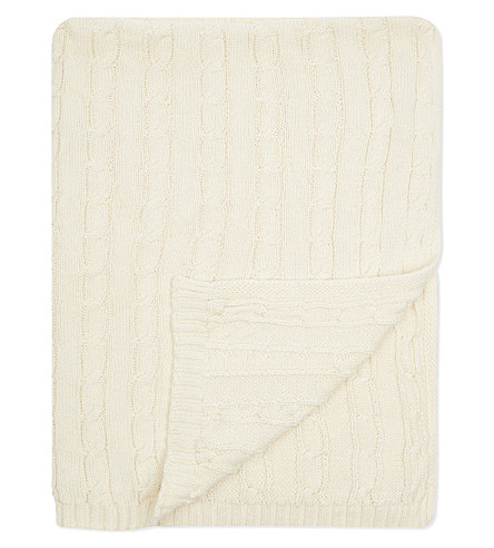 NATURES PUREST Pram size bamboo knit blanket