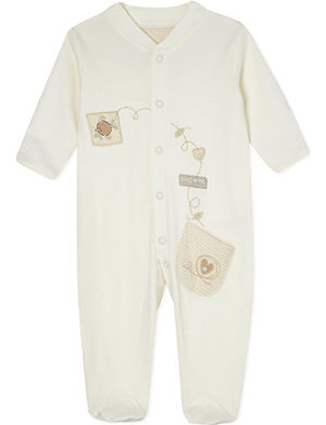 NATURES PUREST Embroidered sleepsuit 0-3m