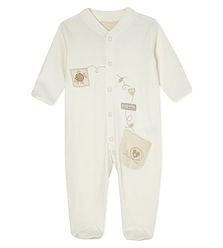 NATURES PUREST Embroidered sleepsuit 0-3 months