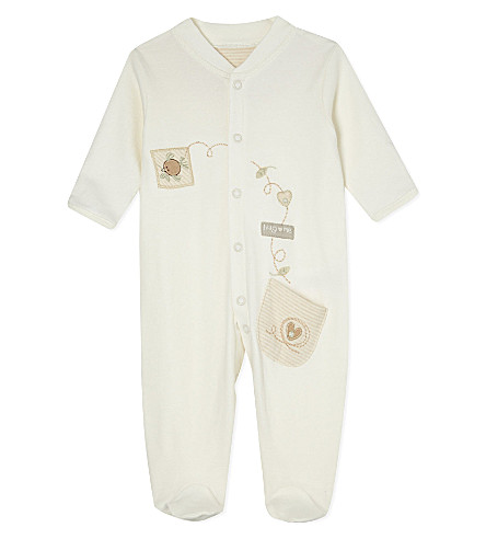 NATURES PUREST Elephant cotton baby-grow 3-6 months