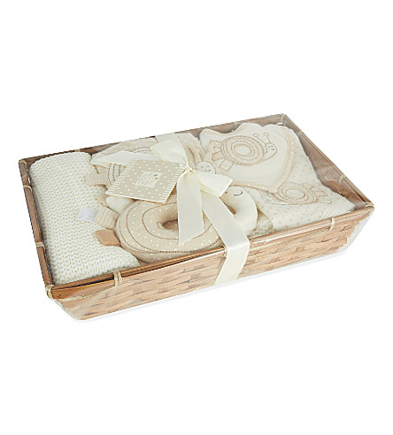 NATURES PUREST Spotted snail baby hamper (White