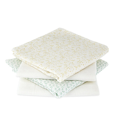 SOPHIE THE GIRAFFE Set of 4 muslins (White