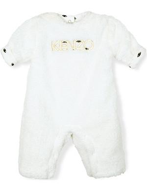 KENZO Reversible fleece-lined baby-grow