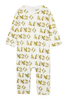 KENZO Cream tiger rompersuit 1-12 months