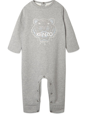 KENZO Embroidered tiger babygrow 1-12 months