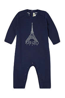 KENZO Embroidered Eiffel Tower playsuit 1-12 months