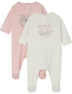 KENZO Tiger babygrow twin pack 1-9 months