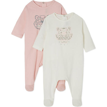 KENZO Tiger baby grow twin pack 1-9 months (Blue