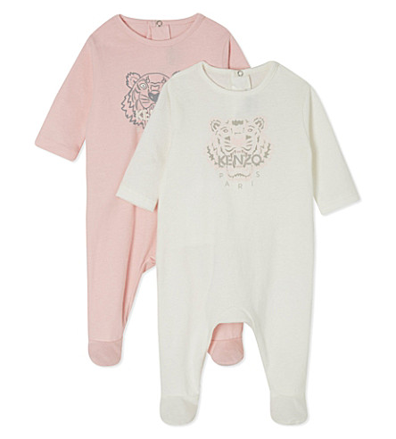 KENZO Tiger babygrow twin pack 1-9 months (Blue