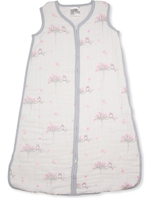 ADEN + ANAIS Owl printed sleeping bag
