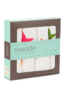ADEN + ANAIS Set of four Super Star swaddles