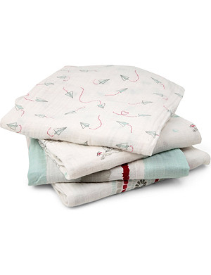 ADEN + ANAIS Set of four Liam the brave swaddles