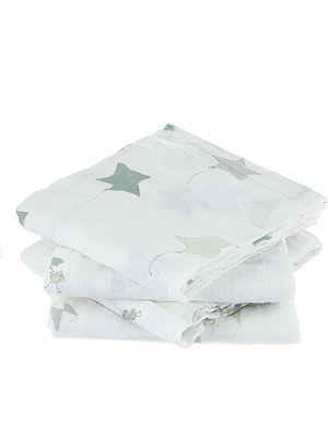 ADEN + ANAIS Set of four up up and away muslin swaddles