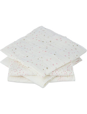 ADEN + ANAIS Pre-washed cotton swaddles pack of four