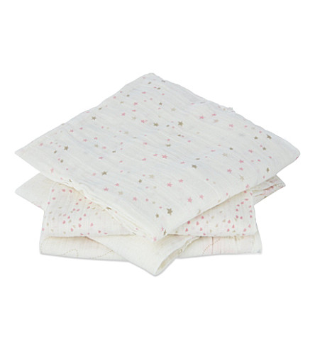 ADEN + ANAIS Pre-washed cotton swaddles pack of four (Lovely