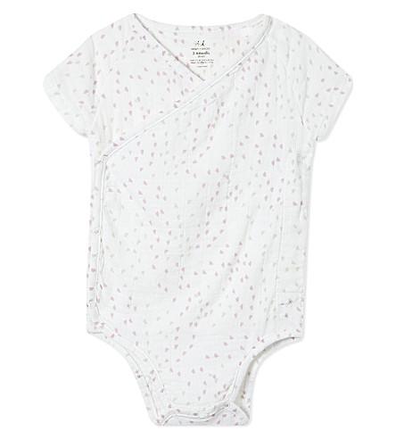 ADEN + ANAIS Kimono baby-grow 0-3 months (Lovely+mini+hearts