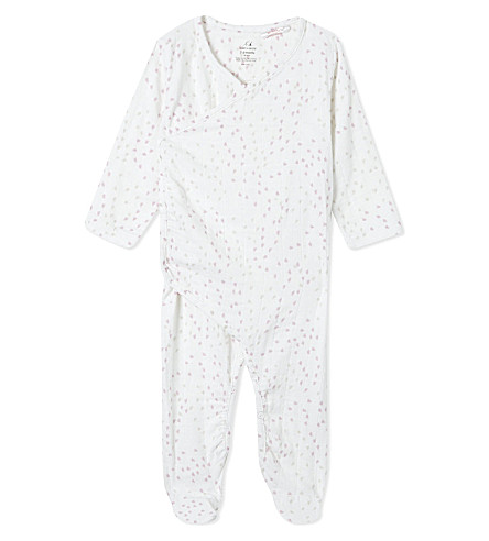 ADEN + ANAIS Heart print kimono baby-grow 0-3 months (Lovely+mini+hearts