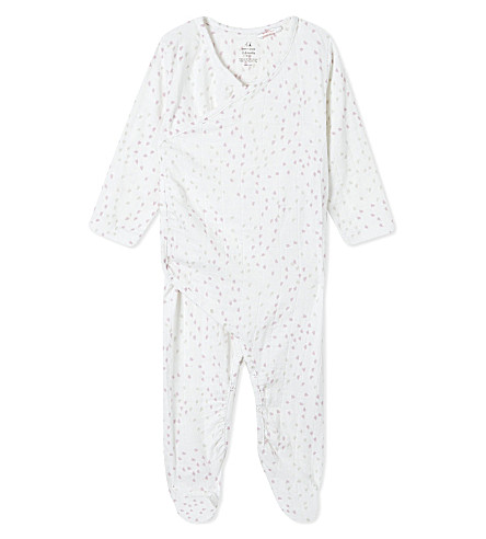 ADEN + ANAIS Heart print kimono baby-grow 3-6 months (Lovely+mini+hearts