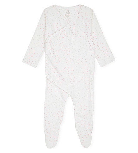 ADEN + ANAIS Heart-print muslin kimono baby-grow 6-9 months (Lovely+mini+hearts