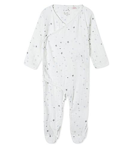 ADEN + ANAIS Star print kimono baby-grow 0-3 months (Nighty+sky+starburst