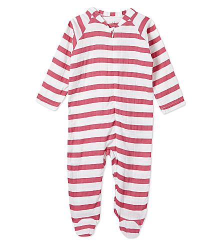 ADEN + ANAIS Stripe baby-grow 3-6 months (Pink+blazer