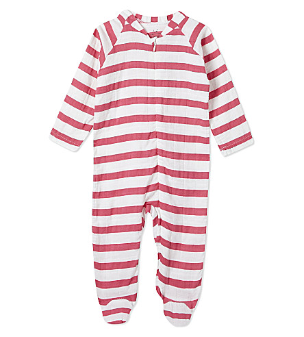 ADEN + ANAIS 条纹婴儿-成长3-6 月 (粉红色 + 外套