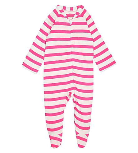 ADEN + ANAIS Striped muslin baby-grow 6-9 months (Pink+blazer