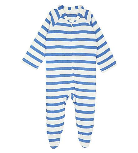 ADEN + ANAIS Striped muslin baby-grow 6-9 months (Ultramarine+blazer