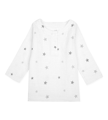 ADEN + ANAIS Star-print muslin tunic top 6-9 months (Twinkle+tiny+star